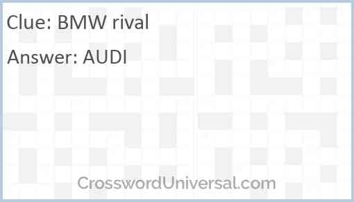 BMW rival Answer