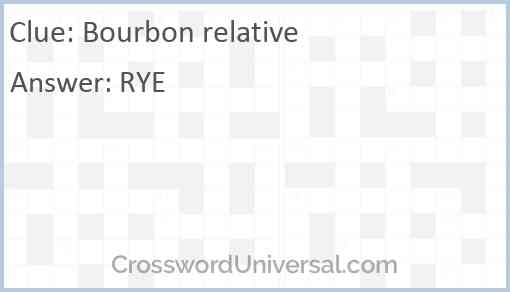 Bourbon relative Answer