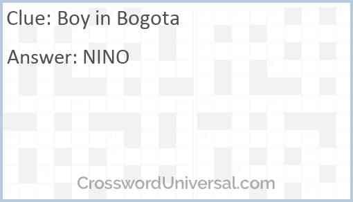 Boy in Bogota Answer