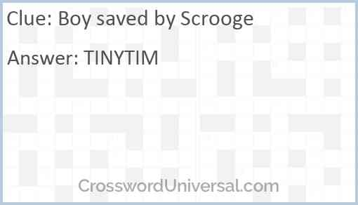 Boy saved by Scrooge Answer