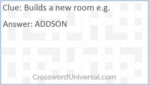 Builds a new room e.g. Answer