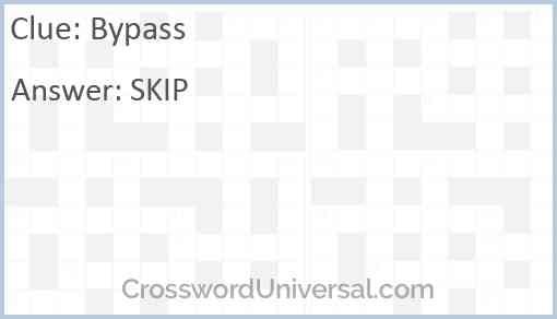 Bypass Answer