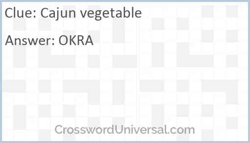 Cajun vegetable Answer