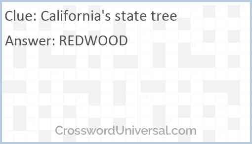 California's state tree Answer