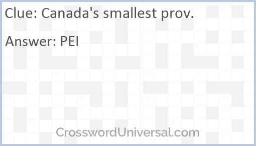 Canada's smallest prov. Answer