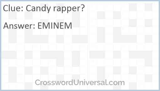 Candy rapper? Answer