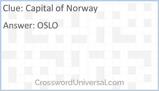 Capital of Norway Answer