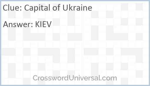 Capital of Ukraine Answer