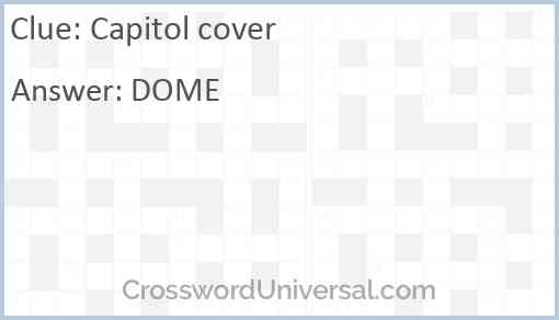 Capitol cover Answer