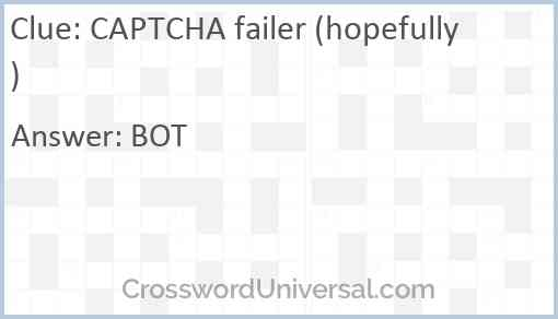 CAPTCHA failer (hopefully) Answer