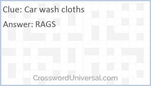 Car wash cloths Answer