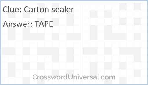 Carton sealer Answer