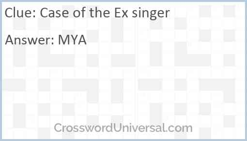 Case of the Ex singer Answer