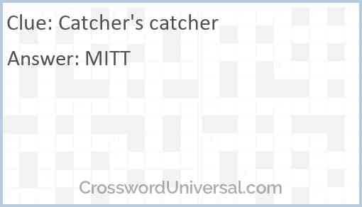 Catcher's catcher Answer