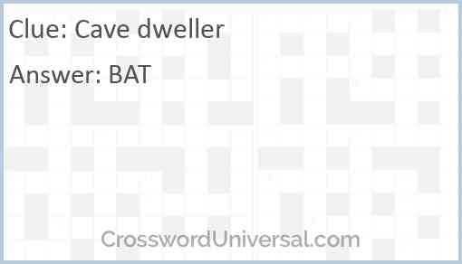 Cave dweller Answer