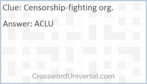Censorship-fighting org. Answer