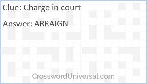 Charge in court Answer