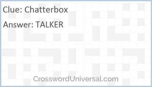 Chatterbox Answer