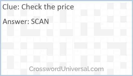Check the price Answer