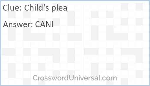 Child's plea Answer