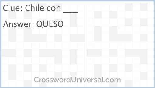 Chile con ___ Answer
