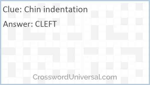 Chin indentation Answer