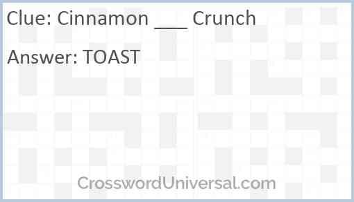 Cinnamon ___ Crunch Answer