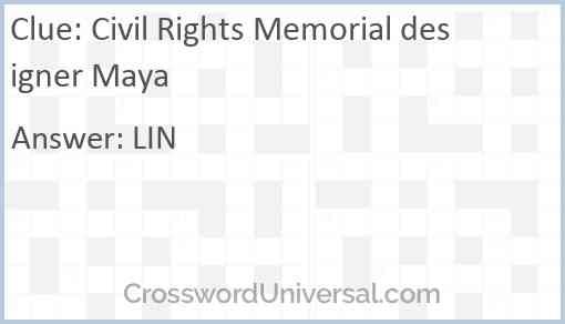 Civil Rights Memorial designer Maya Answer