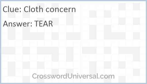 Cloth concern Answer