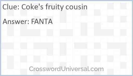 Coke's fruity cousin Answer
