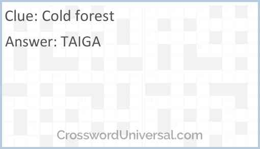 Cold forest Answer
