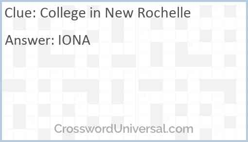 College in New Rochelle Answer