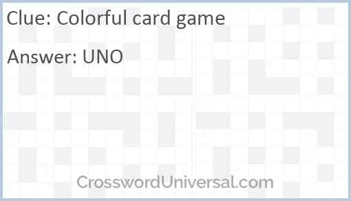 Colorful card game Answer