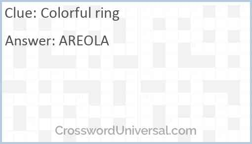 Colorful ring Answer