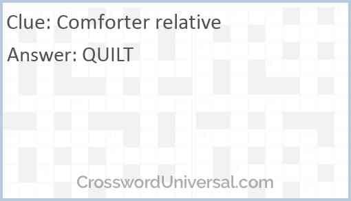 Comforter relative Answer