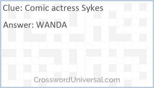 Comic actress Sykes Answer