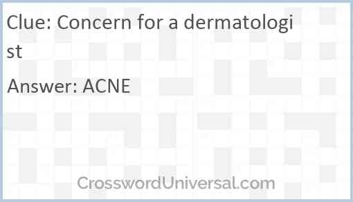 Concern for a dermatologist Answer
