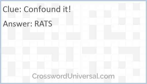 Confound it! Answer