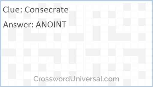 Consecrate Answer