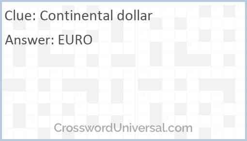 Continental dollar Answer