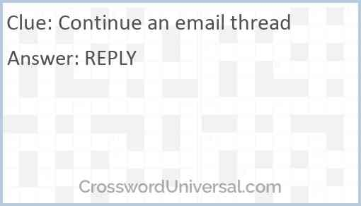 Continue an email thread Answer