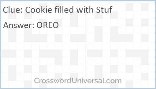 Cookie filled with Stuf Answer