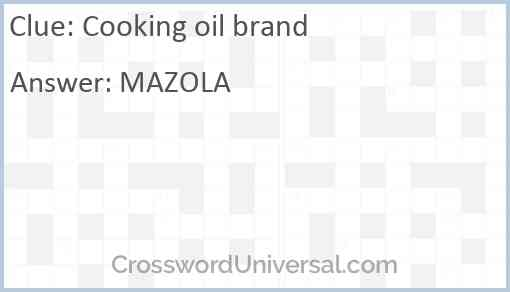 Cooking oil brand Answer