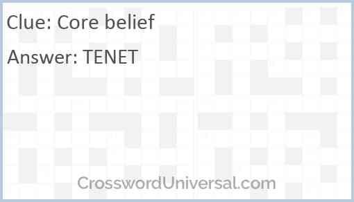 Core belief Answer