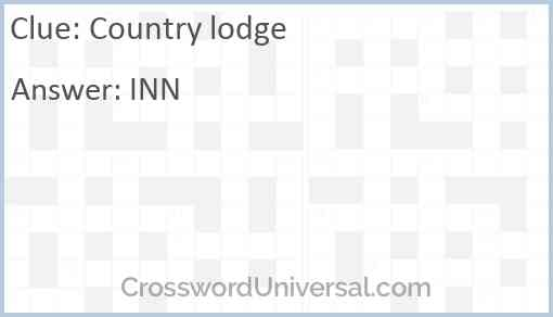 Country lodge Answer