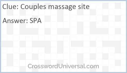 Couples massage site Answer