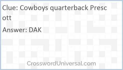 Cowboys quarterback Prescott Answer