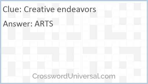 Creative endeavors Answer