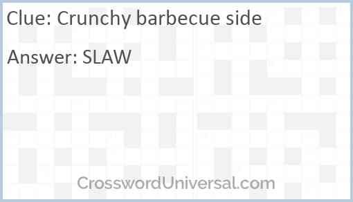Crunchy barbecue side Answer