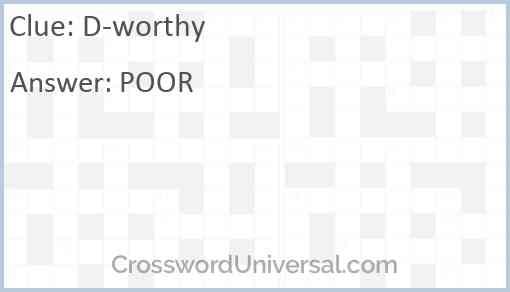 D-worthy Answer